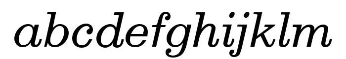 Egizio URW Regular Italic Font LOWERCASE