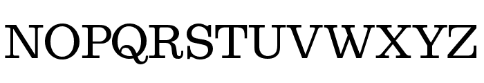 Egizio URW Regular Font UPPERCASE