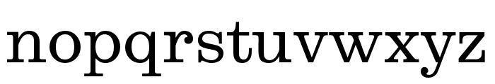 Egizio URW Regular Font LOWERCASE