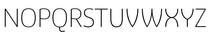 Eigerdals Thin Font UPPERCASE