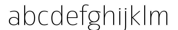 Eigerdals Thin Font LOWERCASE
