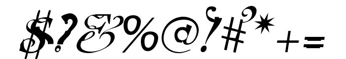 Elliotts OT BlueEyeShadow Font OTHER CHARS