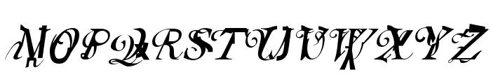 Elliotts OT BlueEyeShadow Font UPPERCASE