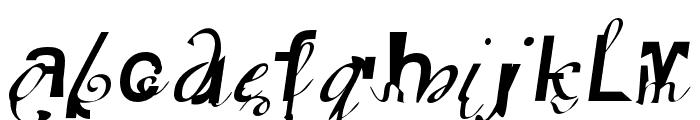 Elliotts OT BlueEyeShadow Font LOWERCASE