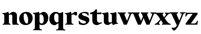 Elmhurst Black Font LOWERCASE