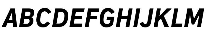 Embarcadero MVB Pro Extra Bold Condensed Italic Font UPPERCASE