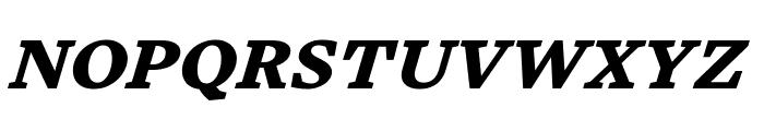 Embury Text Black Italic Font UPPERCASE