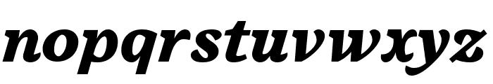 Embury Text Black Italic Font LOWERCASE