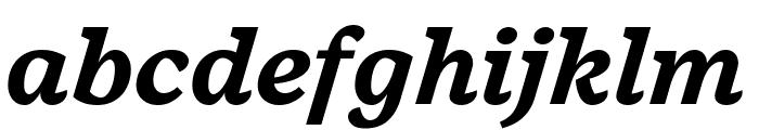 Embury Text Bold Italic Font LOWERCASE