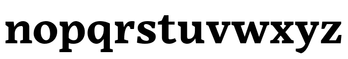 Embury Text Bold Font LOWERCASE