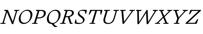 Embury Text Light Italic Font UPPERCASE