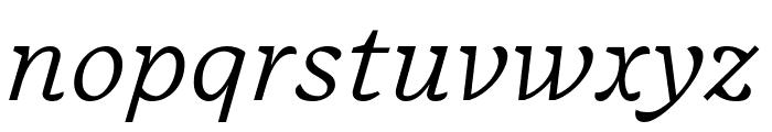 Embury Text Light Italic Font LOWERCASE