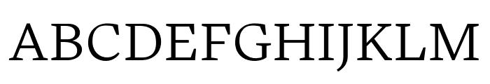 Embury Text Light Font UPPERCASE