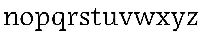 Embury Text Light Font LOWERCASE