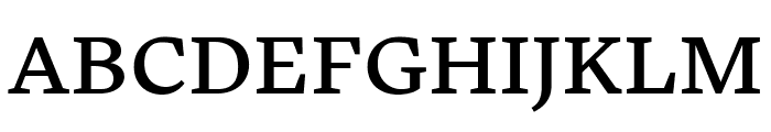 Embury Text Regular Font UPPERCASE