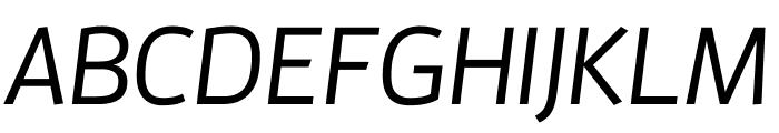 Enzo OT Medium Italic Font UPPERCASE