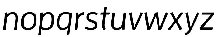 Enzo OT Medium Italic Font LOWERCASE