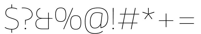 Enzo OT Thin Font OTHER CHARS