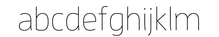 Enzo OT Thin Font LOWERCASE