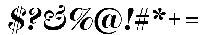 Escrow Banner Bold Italic Font OTHER CHARS
