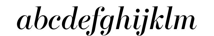 Escrow Banner Italic Font LOWERCASE