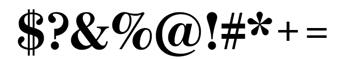 Escrow Bold Font OTHER CHARS