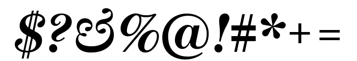 Escrow BoldItalic Font OTHER CHARS