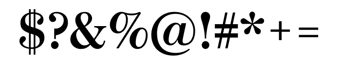 Escrow Semibold Font OTHER CHARS