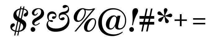 Escrow SemiboldItalic Font OTHER CHARS