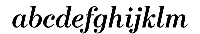 Escrow SemiboldItalic Font LOWERCASE