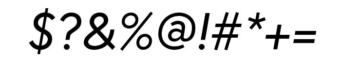 Europa Regular RegularItalic Font OTHER CHARS