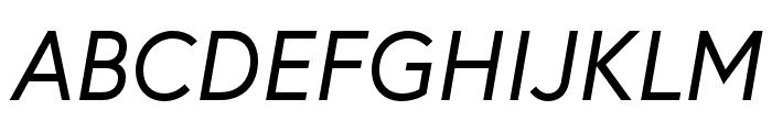 Europa Regular RegularItalic Font UPPERCASE