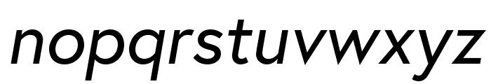 Europa Regular RegularItalic Font LOWERCASE