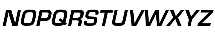Eurostile Bold Oblique Font UPPERCASE