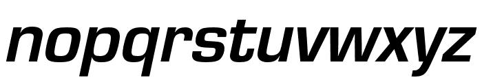 Eurostile Bold Oblique Font LOWERCASE