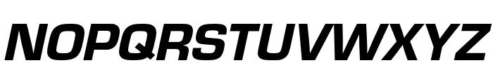 Eurostile Cond Heavy Italic Font UPPERCASE