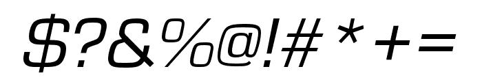 Eurostile Cond Regular Italic Font OTHER CHARS