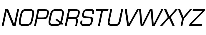 Eurostile Cond Regular Italic Font UPPERCASE
