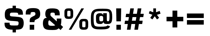 Eurostile Extd Black Font OTHER CHARS