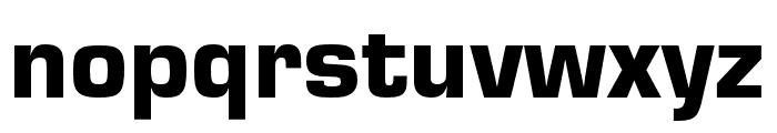 Eurostile Extd Black Font LOWERCASE