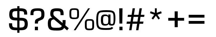 Eurostile Extd Medium Font OTHER CHARS