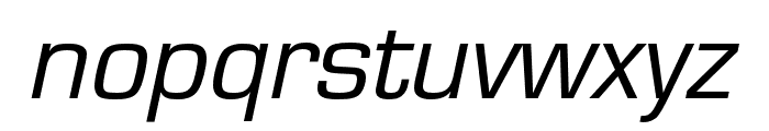 Eurostile Regular Oblique Font LOWERCASE