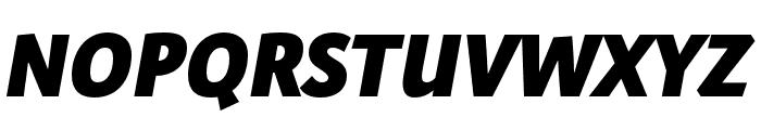 Expo Sans Pro Black Italic Font UPPERCASE