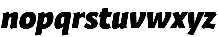 Expo Sans Pro Black Italic Font LOWERCASE
