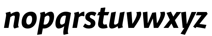 Expo Sans Pro Bold Italic Font LOWERCASE
