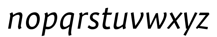 Expo Sans Pro Condensed Italic Font LOWERCASE