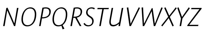 Expo Sans Pro ExtraLight Condensed Italic Font UPPERCASE