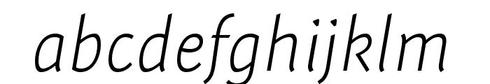 Expo Sans Pro ExtraLight Condensed Italic Font LOWERCASE