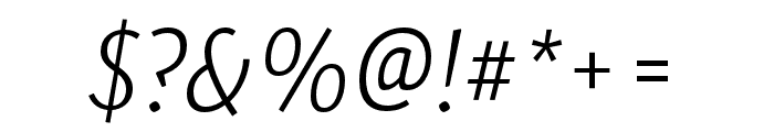 Expo Sans Pro ExtraLight Italic Font OTHER CHARS