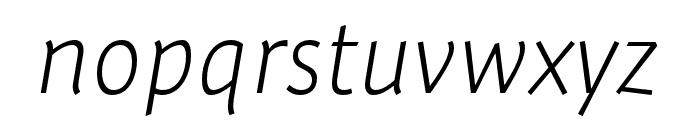 Expo Sans Pro ExtraLight Italic Font LOWERCASE